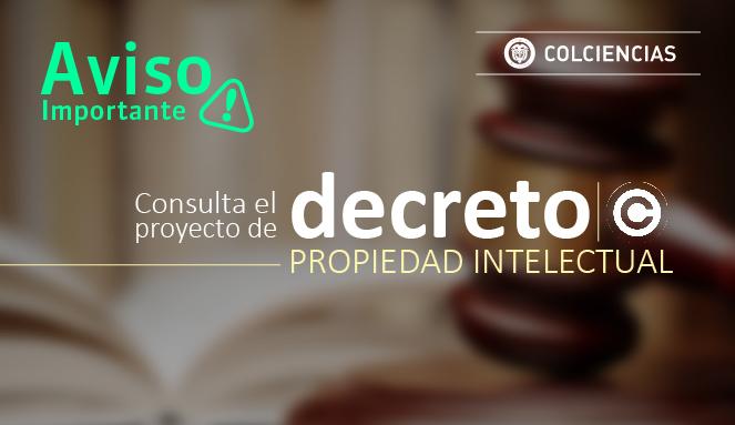 Consulte el Decreto de Propiedad Intelectual
