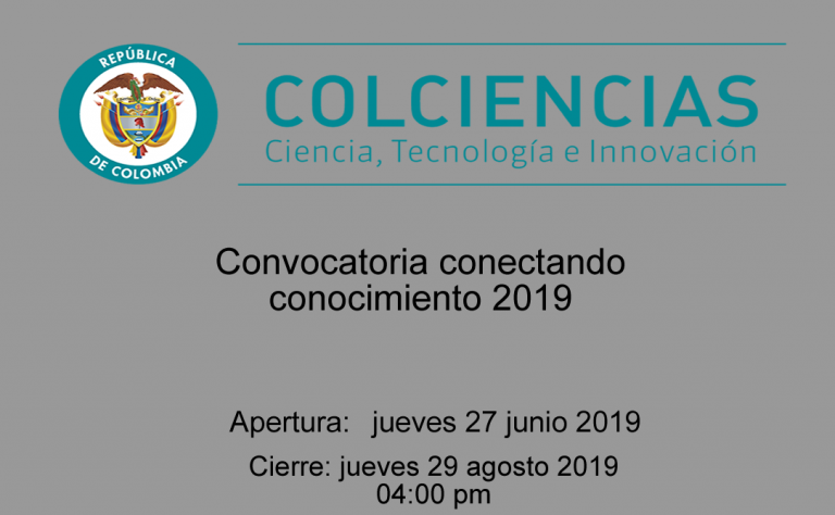 Convocatoria conectando conocimiento 2019